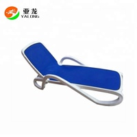 Foldable Aluminium Outdoor Sun Lounge Chair,Comfortable Outdoor Beach Deck Chair ,Modern Leisure Chair