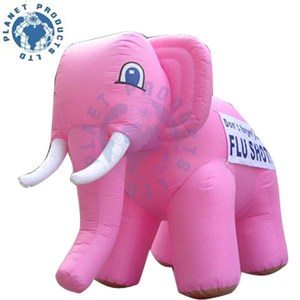 Giant Inflatable Pink Elephant for Advertising (PLAD40-060))