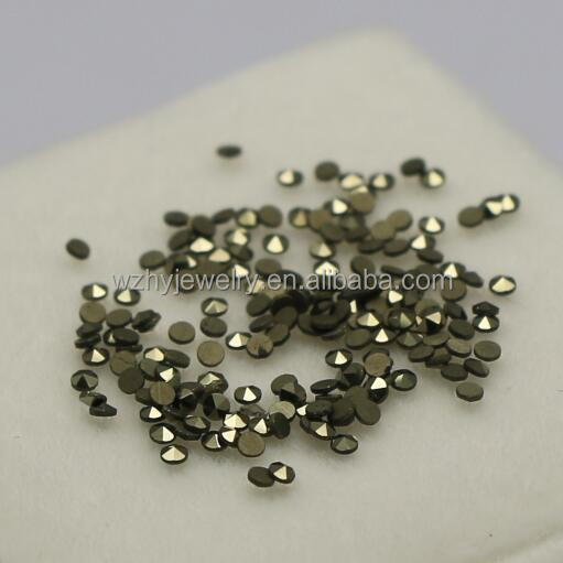 1000pcs per bag 2mm Round 6 Faces Cut Flat Bottom loose marcasite <strong>stones</strong>