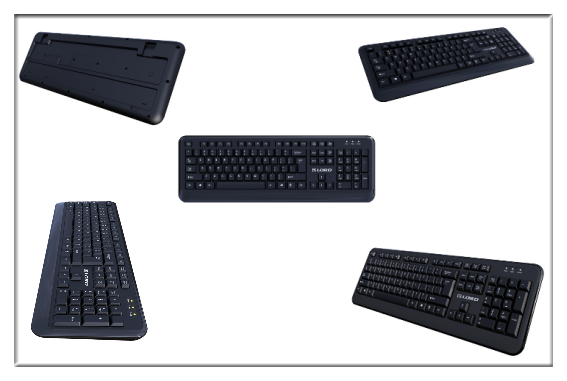 High end 2.4G wireless keyboard and mouse combo set