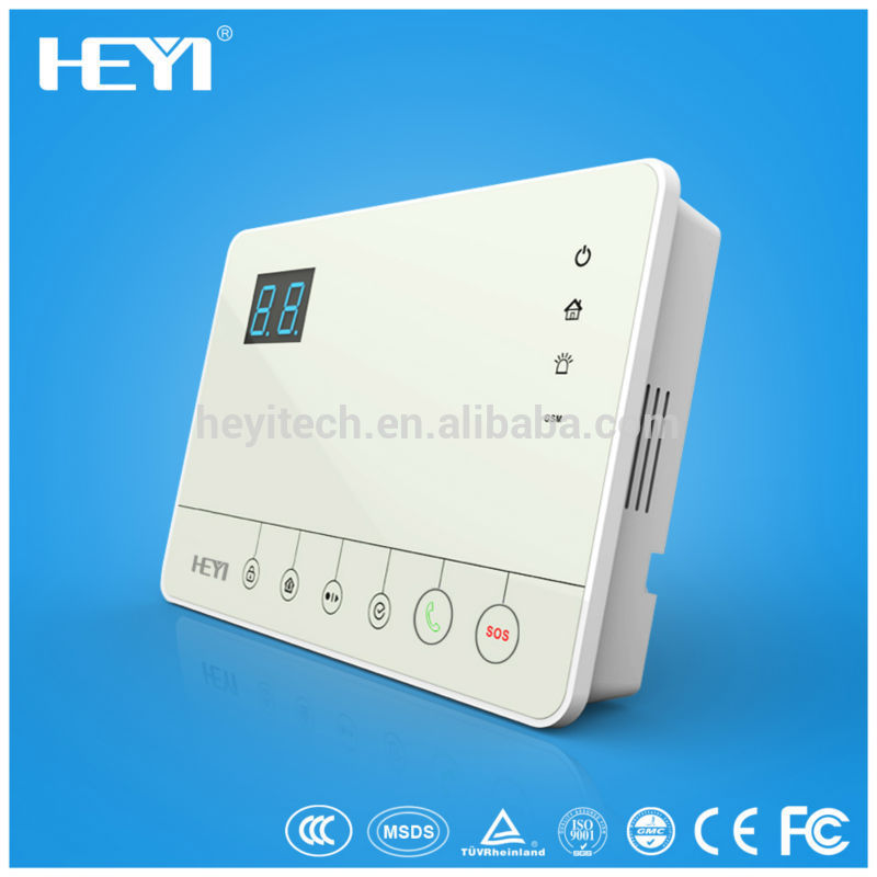 HEYI-H5, low price China home burglar security alarm system,+RFID card