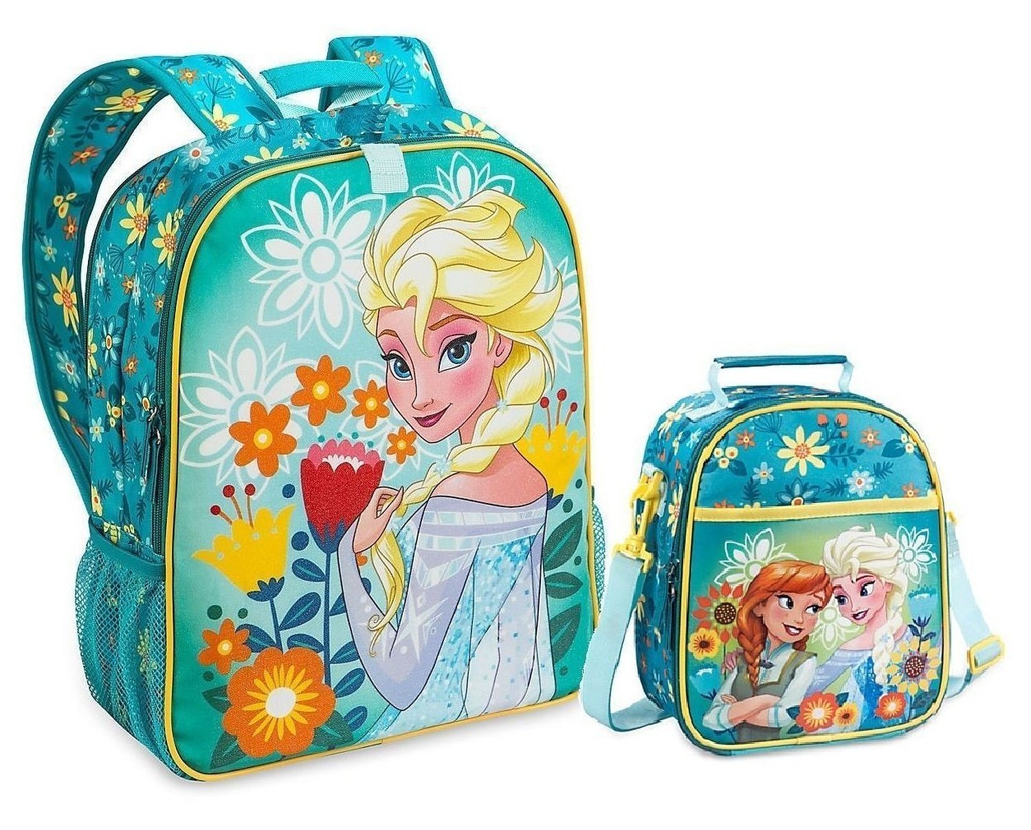 b9909ae1dd0 Get Quotations · Disney Frozen Anna   Elsa Backpack with Matching Easily  Attach Tote Bag 5StarService