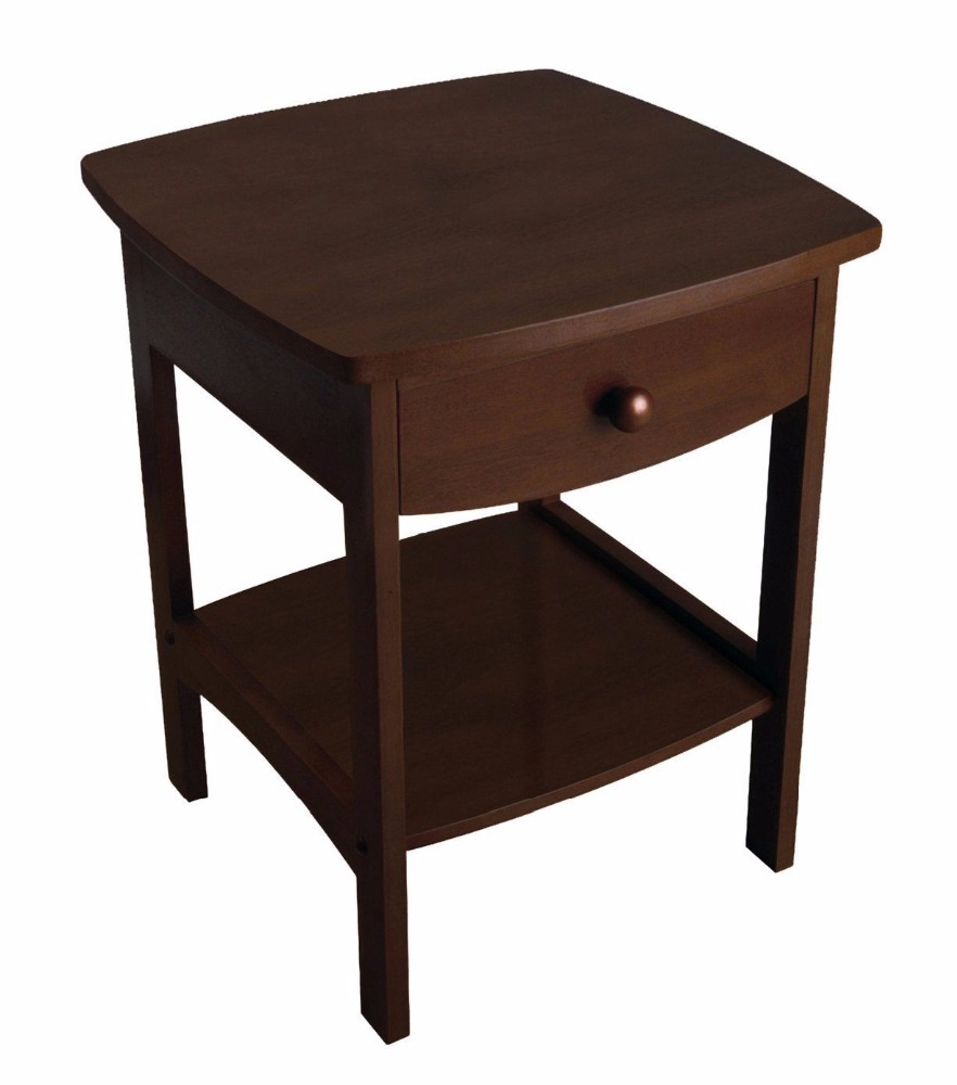 wooden creative end table side table