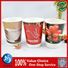 custom printed single/double wall/ripple wall paper coffee cups with lid for coffee-to-go