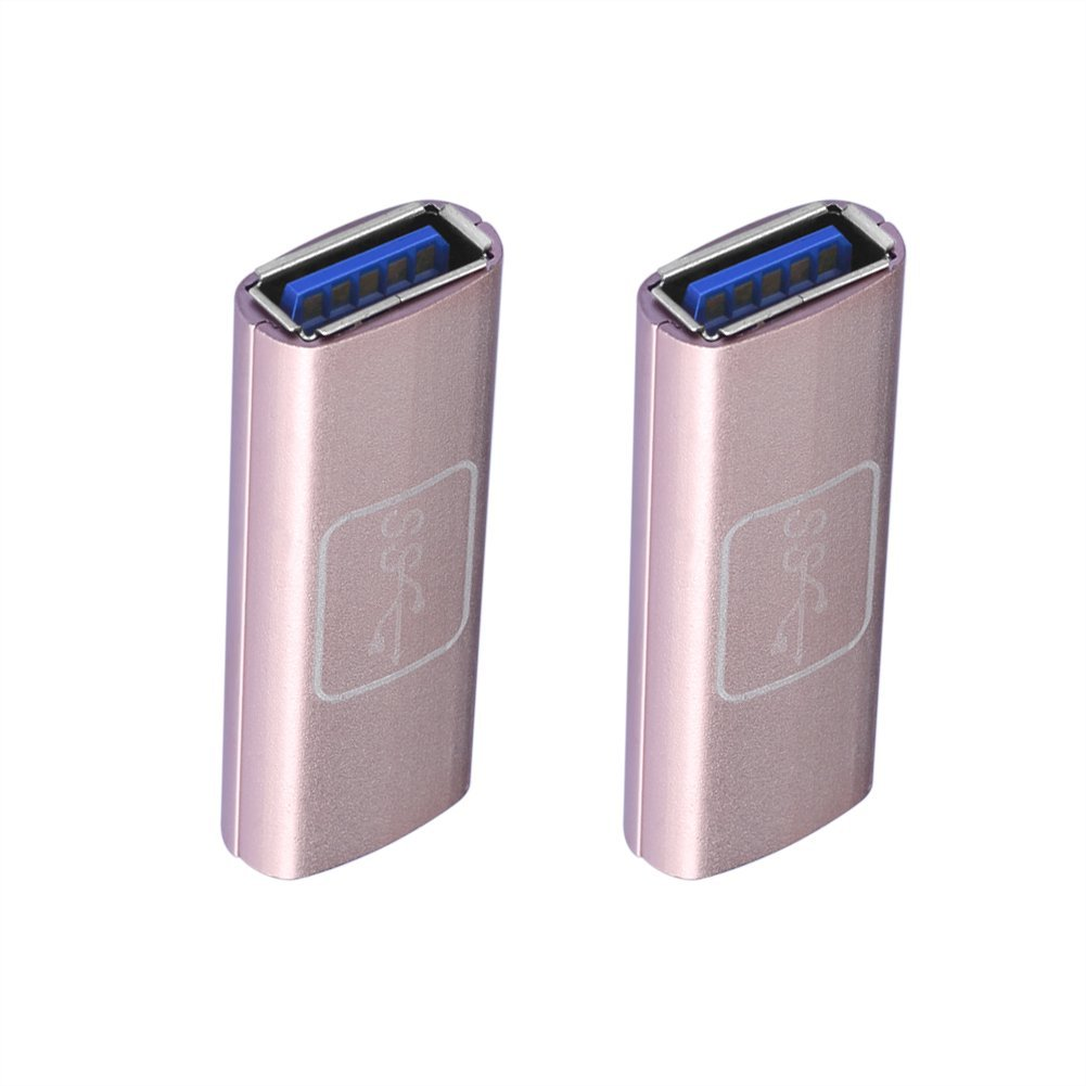SIENOC 2 Packs Golden Plated USB 3.0 Type A Female to Female Adapter Coupler Gender Changer Connector