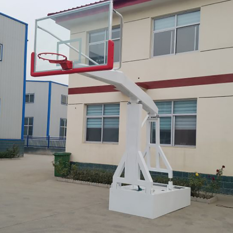 Professional standard size adjustable folding backboard basketball hoop stand