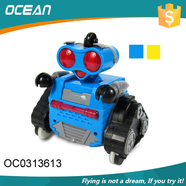 Best gift kids toy 2.4G rc music light robot kit with cute shape