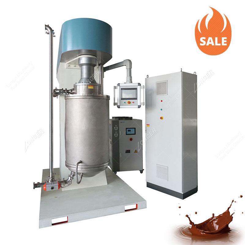 LG-CQM1000 25-20um Üç Rulo Çikolata Freze Makinesi Çikolata Bilyalı Değirmen