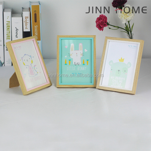 Jinnhome hotsale eco-friendly lovely simplicity wood MDF sticker photo frame for gift