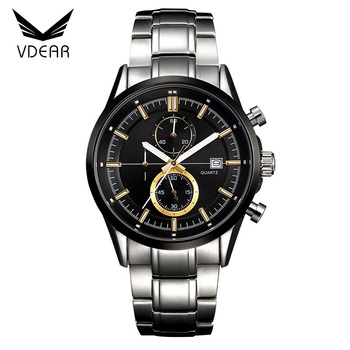 f1cc5462525 Buy watches online best selling two eyes oem unbranded mens chronograph  watches with metal chain