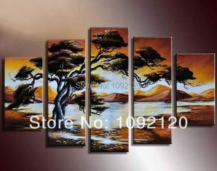 Free shipping 100% handmade home decoration oil painting african living room decor on canvas wall art picture