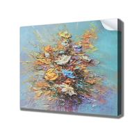 flower oil painting on canvas hand drawn custom size wall art painting print on canvas