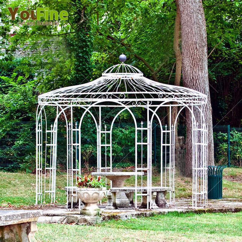 Wrought Iron Pavilion Metal Gazebo For Garden - Buy Iron ...