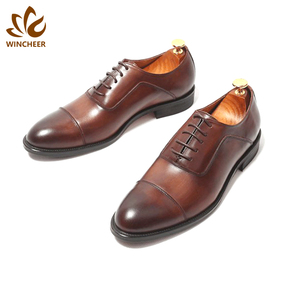 Cheap price black brown high quality leather shoes custom man dress shoe