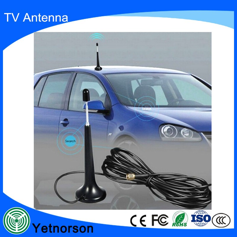 Magnetic Car Satellite Tv Antenna Best Indoor Outdoor With Iec F Connector