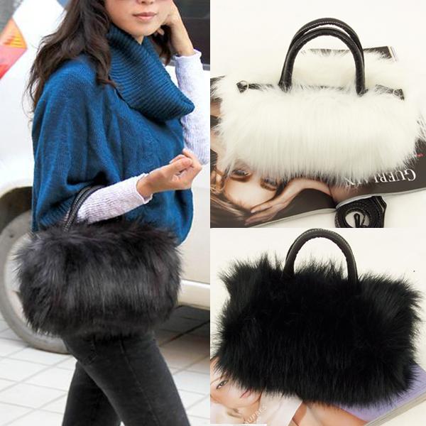 Faux Fur Handbag Women Leather Handbags Aeproduct