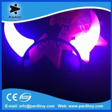 Music concerts led glowing devil horns glow in the dark ox horn
