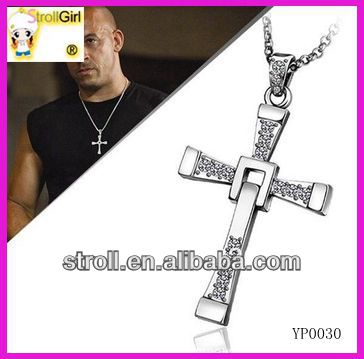 COLLANA DOMINIC TORETTO FAST AND FURIOUS VIN DIESEL Croce Ciondolo