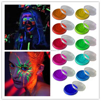 Free Sample professional face painting supplies Safe Human Uv Body Paint halloween face painting pictures