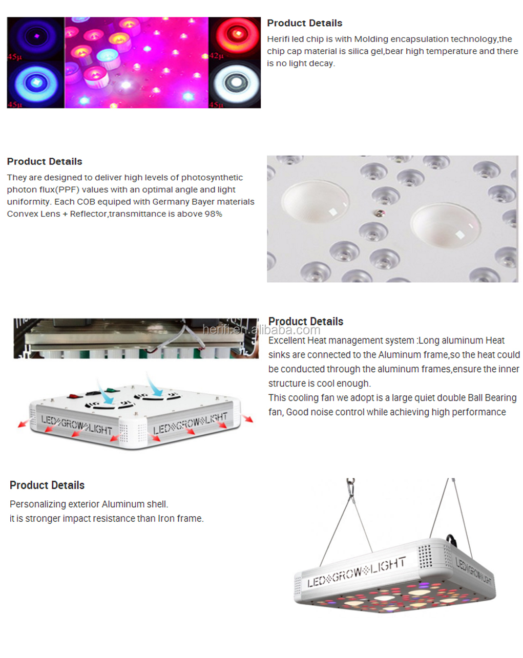 600W Full Spectrum COB LED Grow Light Greenhouse Plants grow lighting