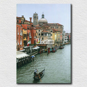 Canvas printed gondola ride, grand canal poster print modern wall art