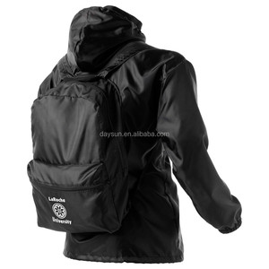 All-in-one rain jacket backpack