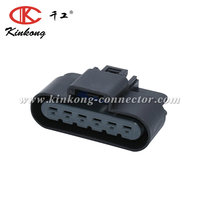 Kinkong 6 Pin Female Waterproof Automotive Electrical Plastic Wire Harness Terminal Bnc Connector Delphi 13521467