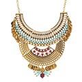 מותג עיצוב זהב-מצופה גיאומטרית עגולה תליונים חדש חם למכור אופנה עבה שרשרת הצהרה תכשיטים לנשים XL6221