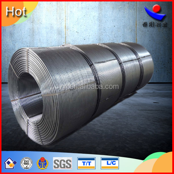 High pure calcium silicon/Calcium Silicon/CaSi/SiCa cored wire with metal alloy powder