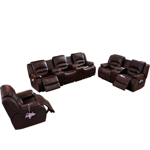 Modern Recling Reclining Sectional Living Room 3 Seat Cover 7 Seater Leather French Furniture 2 1 Automatic Recliner Sofa Set