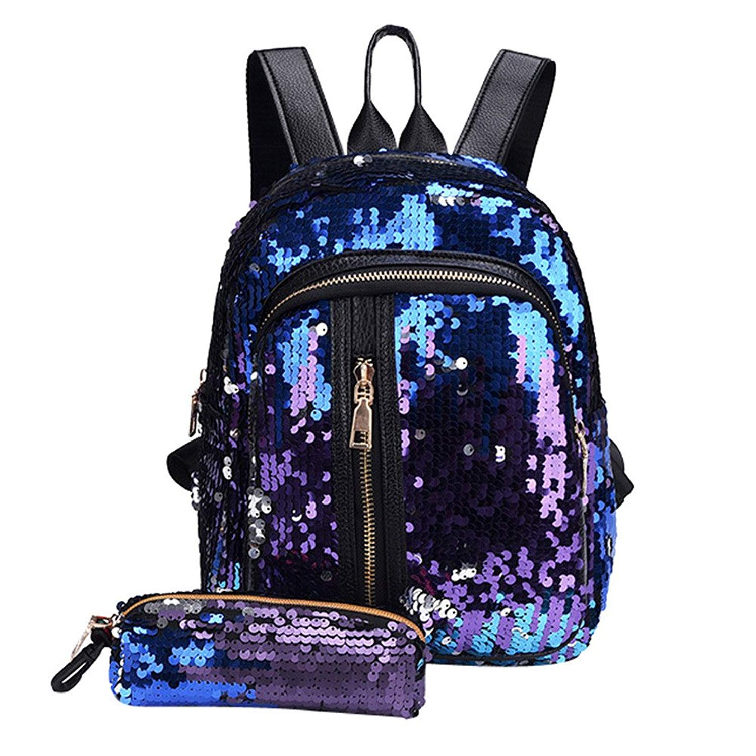 Liraly Women Bags,Big Promotion! 2018 Girl Sequin School Bag Backpack Travel Shoulder Bag+Clutch Wallet