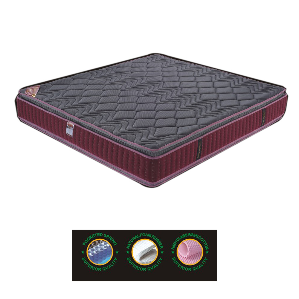 Factory OEM High Quality Latex Bed Mattress With Memory Foam And Single Spring