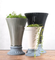 Wholesale Indoor & Outdoor home decoration wild-mouthed ceramic flower vase