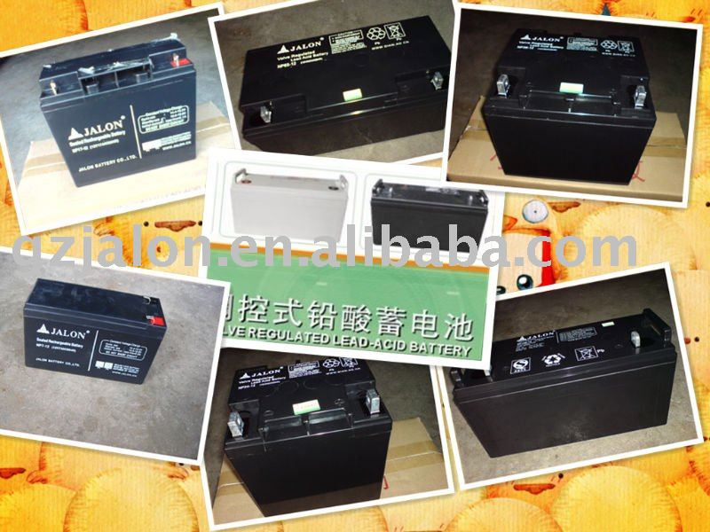 maintenance free and high quality SLA battery white and black 12V12AH