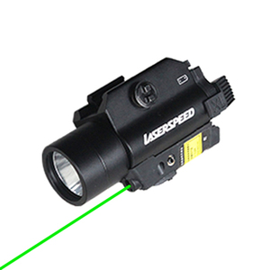 RAIL-MOUNTED GREEN LASER SIGHT LED WEAPONS LIGHT COMBO