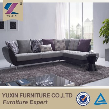 New Model Cheapest Wooden Sofa Set Small Fabric Corner Sofa Set