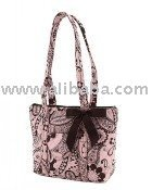 COTTON QUILTED FASHION TOTE bag