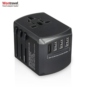 New USB C type world travel adapter quick charger universal socket outlet 4500mA usb adaptor