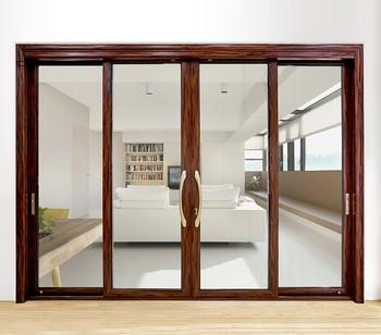 China Factory Modern Design Aluminum Metal Frame Sliding Door For Kitchen  Entrance