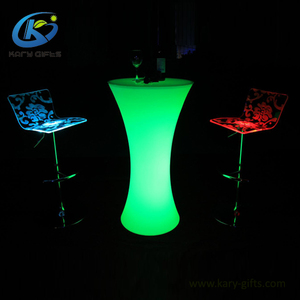 Glowing Led Cocktail Table Outdoor Event Bar Led Furniture