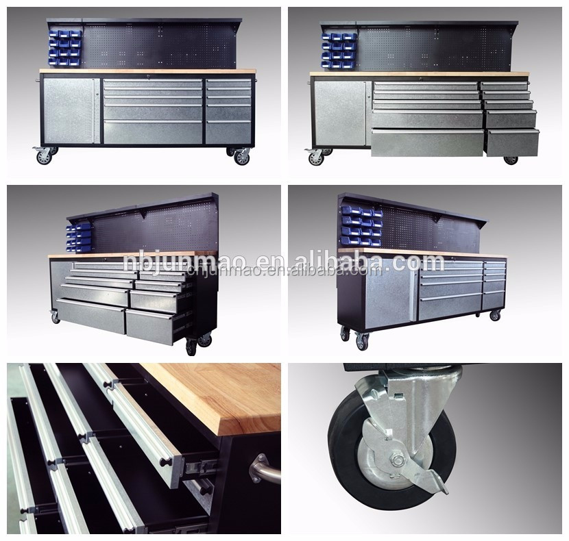 High quality Metal hardware mobile work bench tool chest roller cabient with wheels for sale