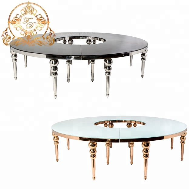 Awesome Round Luxury Clear Glass Event Table For Wedding Banquet Hall Buy Clear Glass Event Table Luxury Clear Glass Event Table Modern Clear Glass Event Home Remodeling Inspirations Basidirectenergyitoicom