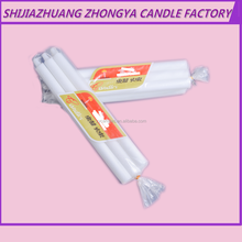 2016 hot sell zhongya holy brand wholesale White Cheap Pillar Candles 6x100polybag