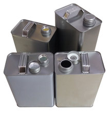 F style oil metal square tin can with screw top,tin bucket for glue tin can or oil clearn packing