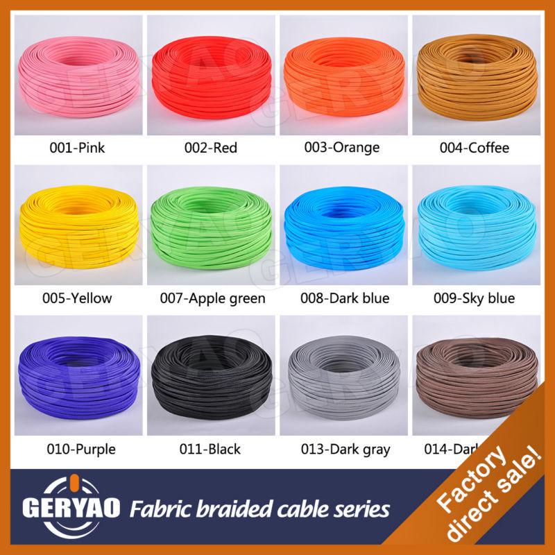 Ce vde rohs enec approuv gris plat coton tissu c ble - Cable electrique plat ...