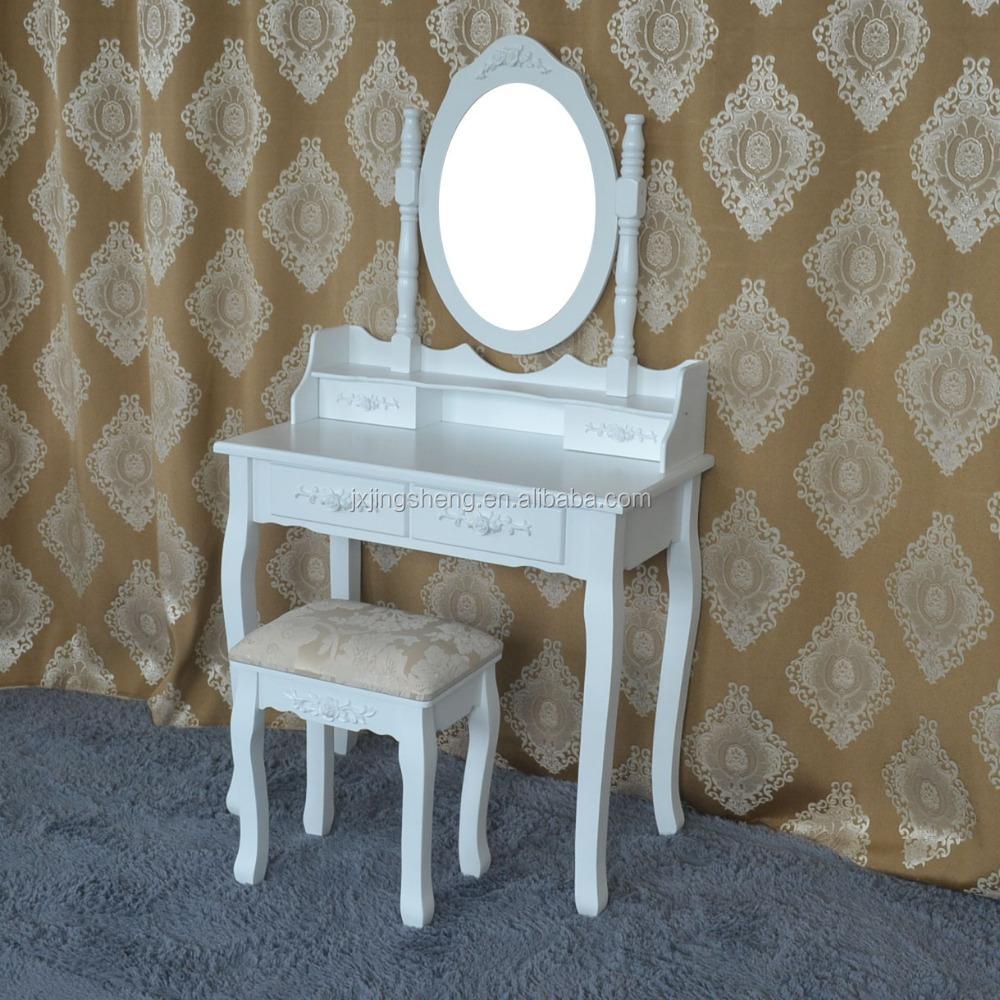 china houten hoogglans blanke kinderen kaptafel met spiegel ...