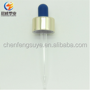 New design custom aluminum dropper for 30ml ,50ml glass bottles