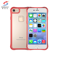 Colored side and transparent bottom phone case 7s acrylic mobile phone case for iphone ,For iphone phone case cover