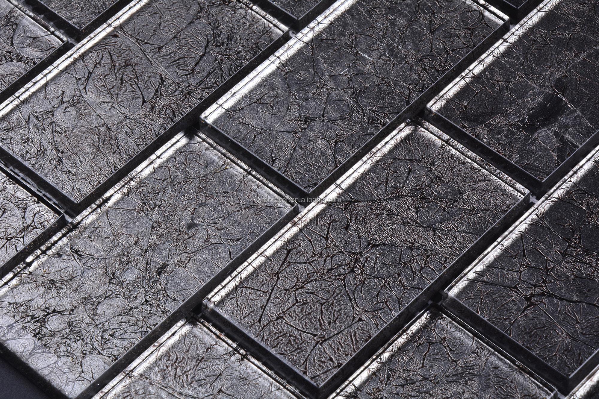 Bsl128 satinato lucido crystal clear metropolitana foglia argento 3d