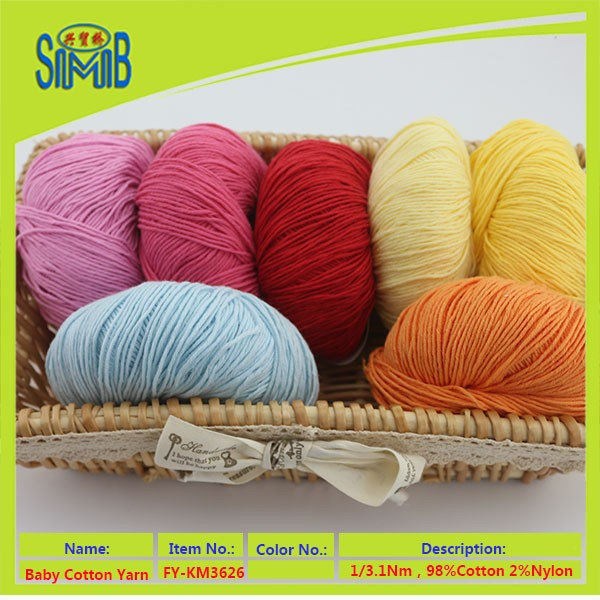 Oeko Tex hand knitting yarn producer huicai on stock wholesalers supply 100% cotton yarn for knitting